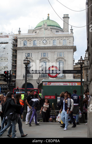 Picadilly Circus underground station, London, England, UK - Stock Photo