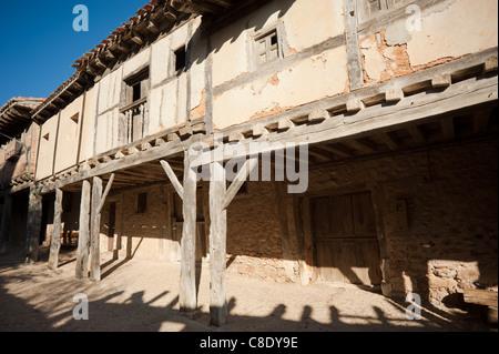 Medieval arcade in the scenic village of Calatanazor, Soria, Spain - Stock Photo