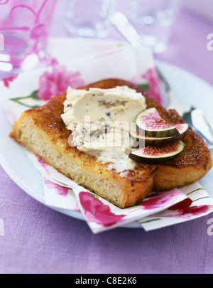 Boursin and fig french toast