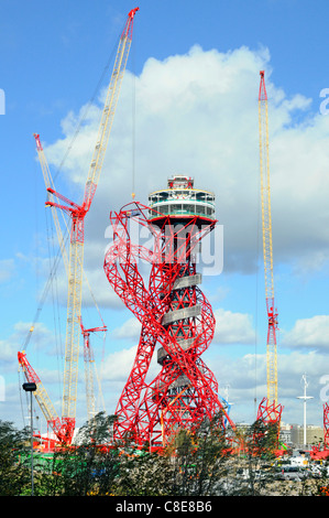 Arcelor Mittal Orbit tower in the 2012 London Olympic park Stratford Newham East London England UK