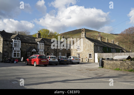 The Old Nags Head pub, Edale the start of the Pennine Way footpath, Derbyshire Peak District England UK