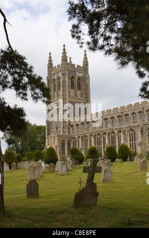 Holy Trinity church, Long Melford, Suffolk - Stock Photo