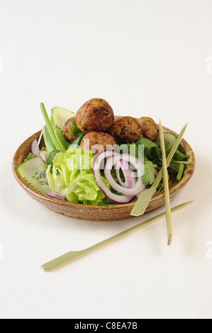 Tuna balls with curry and ginger - Stock Photo