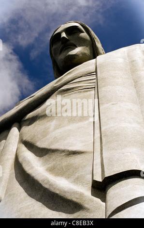 Christ the Redeemer (Cristo Redentor) statue Corcovado Rio de Janeiro, Brazil - Stock Photo