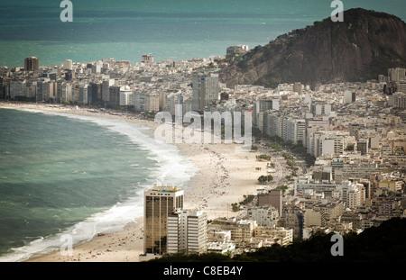 Copacabana beach, Rio de Janeiro, Brazil - Stock Photo