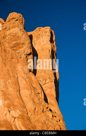 North Gateway Rock, Garden of the Gods, National Natural Landmark, Colorado - Stock Photo