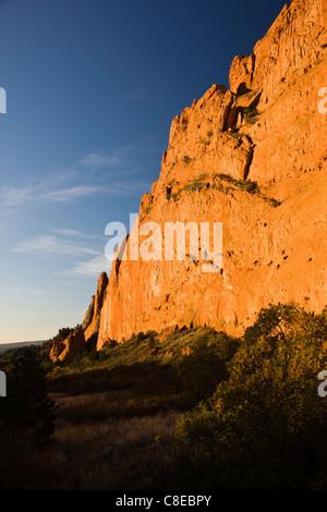 South Gateway Rock, Garden of the Gods. National Natural Landmark, Colorado - Stock Photo