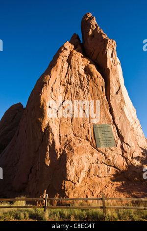 South Gateway Rock, Garden of the Gods, National Natural Landmark, Colorado - Stock Photo