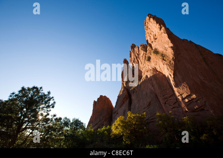 South Gateway Rock, Garden of the Gods. National Natural Landmark, Colorado - Stock Photo
