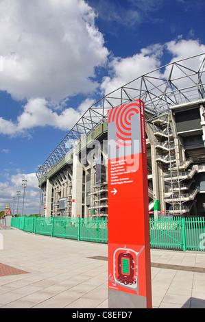 West Stand, Twickenham Stadium, Twickenham, London Borough of Richmond upon Thames, Greater London, England, United - Stock Photo
