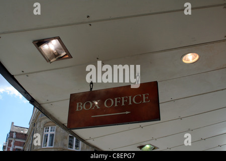 Theatre box office sign at London's West End -  Shaftesbury Avenue, London, England, UK - Stock Photo
