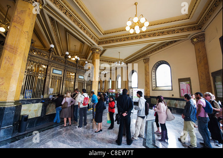 General Post Office, District Federal, Mexico City, Mexico - Stock Photo