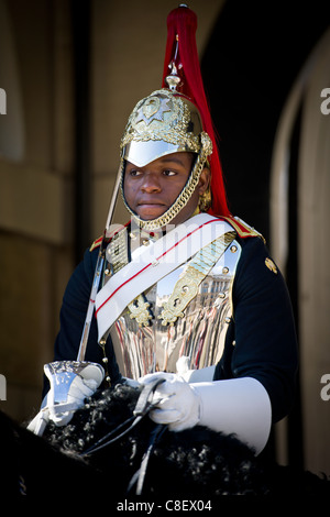 A soldier on guard at Horse Guards Parade, London - England. - Stock Photo