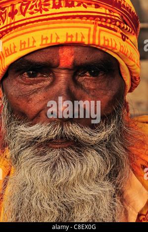 Sadhu, Varanasi (Benares, Uttar Pradesh, India - Stock Photo