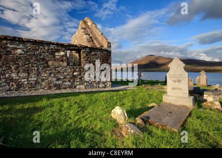 Churchyard, Achill Island, off the coast of County Mayo, Republic of Ireland - Stock Photo