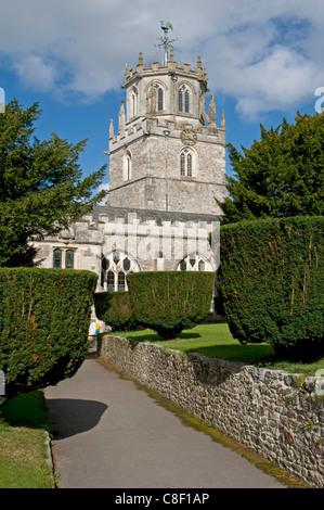The Church of St Andrew, Colyton, Devon - Stock Photo