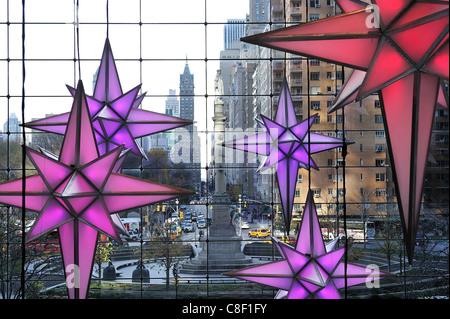 shops, Columbus Circle, Time Warner Building, Midtown, Manhattan, New York, USA, United States, America, Christmas, - Stock Photo