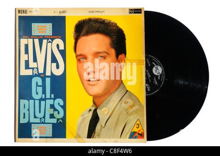 Elvis Presley GI Blues album - Stock Photo