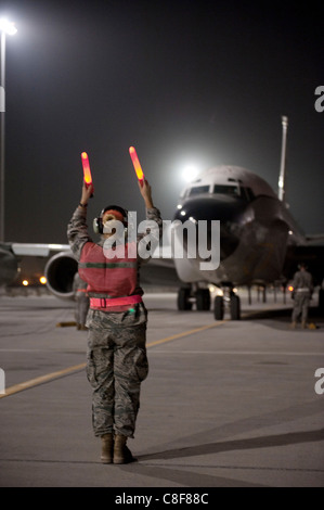 RC-135V/W Rivet Joint Oct. 7, 2009, at an air base in Southwest Asia. - Stock Photo