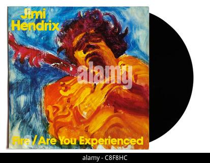 Jimi Hendrix Fire 12' single - Stock Photo