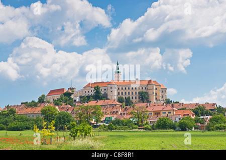 Castle Mikulov, Breclav, South Moravia, Czech Republic, Europe - Stock Photo