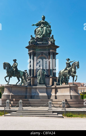 The Maria Theresa Monument, the most important monument of the imperial period of imperial regent Maria Theresa, - Stock Photo