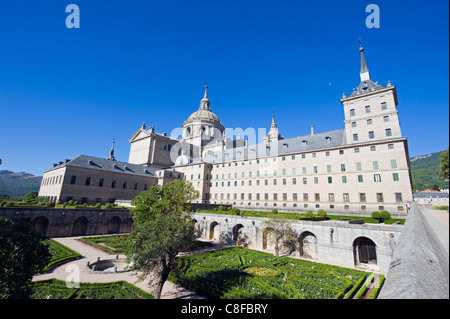 San Lorenzo de El Escorial, mausoleum of the Spanish monarchs, El Escorial, UNESCO World Heritage Site, Madrid, - Stock Photo