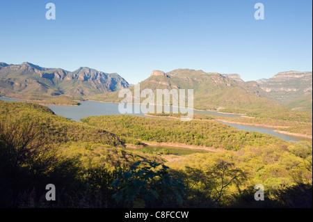 Scenery along the El Chepe railway journey through Barranca del Cobre (Copper Canyon, Chihuahua state, Mexico - Stock Photo