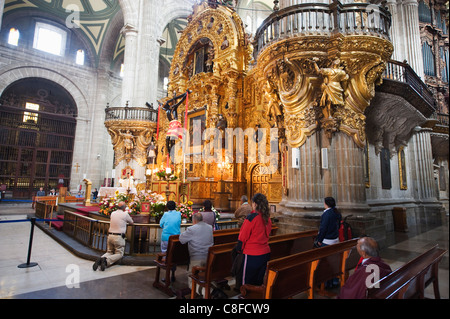 Church service at Cathedral Metropolitana, District Federal, Mexico City, Mexico - Stock Photo