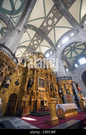 Altar at Cathedral Metropolitana, District Federal, Mexico City, Mexico - Stock Photo