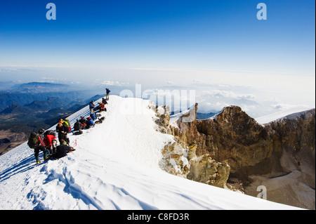 Pico de Orizaba, 5610m, Veracruz state, Mexico - Stock Photo