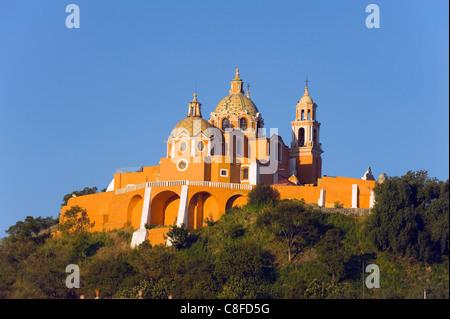 Santuario de Nuestra Senora de los Remedios, Cholula, Puebla state, Mexico North America - Stock Photo
