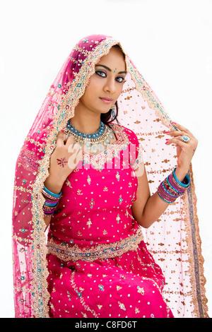 Beautiful Bangali bride - Stock Photo