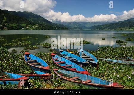 Phewa Tal (Phewa Lake, Pokhara, Gandaki, Western Region (Pashchimanchal, Nepal - Stock Photo