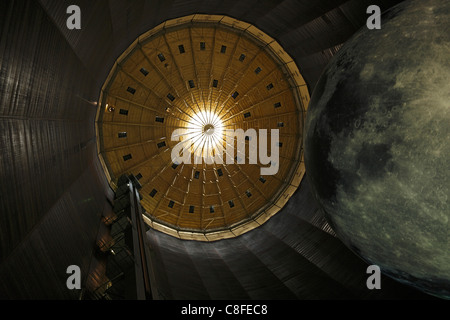 Germany, Europe, Oberhausen, Ruhr area, Lower Rhine, North Rhine-Westphalia, exhibition hall, gasometer, stars, - Stock Photo