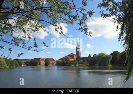 Germany, Europe, Kiel, Kiel Förde, Baltic Sea, Schleswig - Holstein, opera-house, Jugendstil, art nouveau, city - Stock Photo