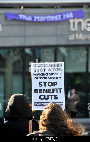 Welfare Reform Bill protest Protest against benefit cuts for disabled people, The Hardest Hit - Stock Photo