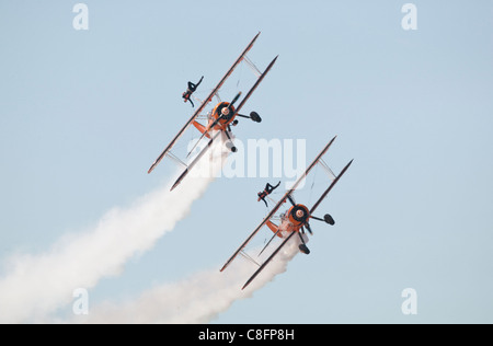 1940s Boeing Stearman biplanes - Stock Photo