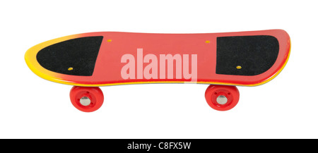 Skateboard used as simple transportation for young adults - path included - Stock Photo