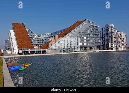 The 8 House - designed by the internationally well-known and acknowledged firm of architects, Bjarke Ingels Group, - Stock Photo