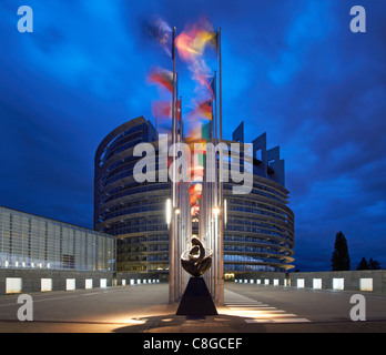 European Parliament in Strasbourg - Stock Photo