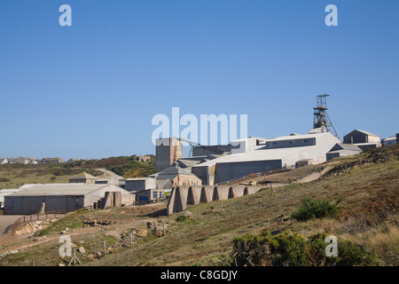 Cornwall England Pendeen mining museum a tourist attraction from South West Coast Path - Stock Photo