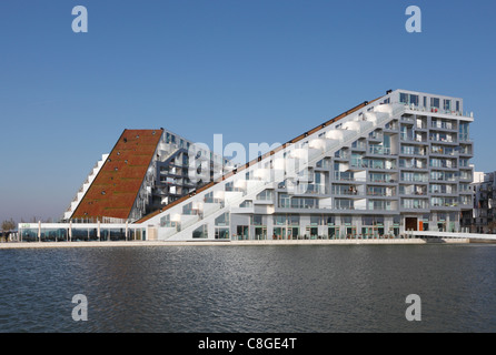 The 8 House - designed by the internationally well-known and acknowledged firm of architects, Bjarke Ingels Group. - Stock Photo