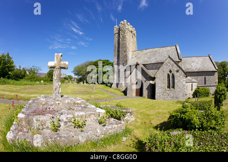 Church of St Michael and All Angels Bosherton, Pembrokeshire, Wales, United Kingdom - Stock Photo