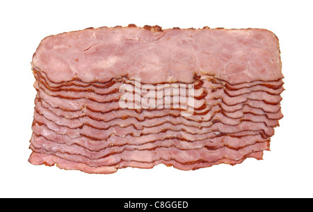 Slices of turkey bacon - Stock Photo