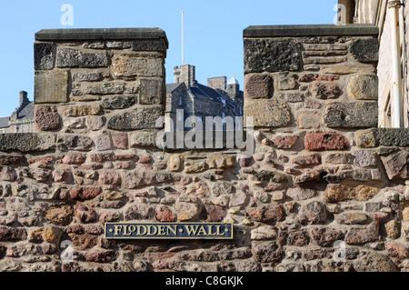 Edinburgh's Flodden Wall - Stock Photo