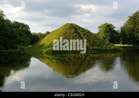 tumulus lake pyramid in the fuerst pueckler park burial place of stock photo royalty free. Black Bedroom Furniture Sets. Home Design Ideas