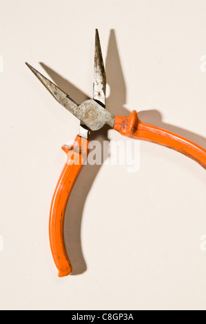 Old long nosed Pliers - Stock Photo