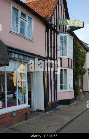 The old bakery, Sparling and Faiers, in the Market Place at Lavenham, Suffolk - Stock Photo