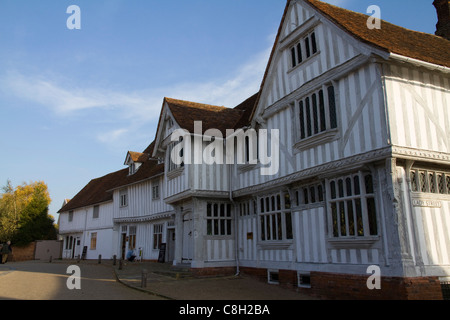 The Guildhall at Lavenham in Suffolk, England, owned by the National Trust - Stock Photo